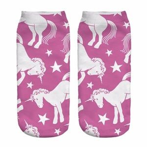 Pink Unicorn Socks